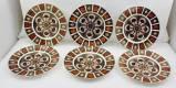 A SET OF SIX ROYAL Crown Derby OLD IMARI PATTERN DINNER PLATES, N.1128, 27cm diameter