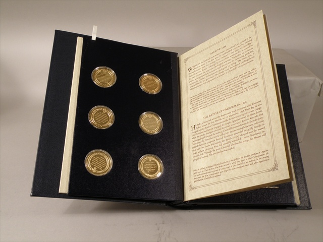 A JOHN PINCHES SILVER GILT TWENTY-FOUR MEDALLION SET THE CHURCHILL CENTENARY MEDALS Trustee edition issue 346, in original presentation folder about his life and times