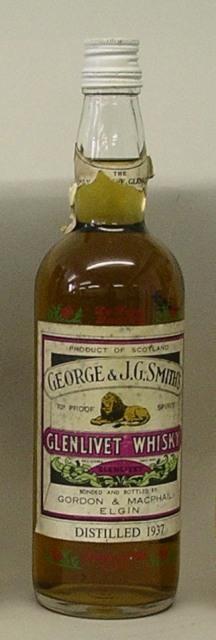 GLENLIVET - Gordon & Macphail, Elgin, 1 bottle (This Whisky was distilled in 1937)