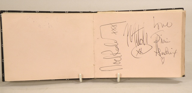 A 1960S COMPILED AUTOGRAPH ALBUM containing signatures for Jimi Hendrix, Frank Ifield, Ted Rogers, Jimmy Tarbuck, some of The Tremoloes and The Herd and others from stage appearances at Coventry Theatre