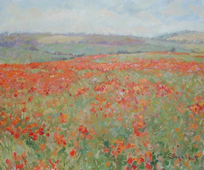 EDWARD NOOTT Poppies, signed lower right, oil on canvas, 61cm x 74cm illustrated