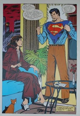 GEORGE SNOW Superman, acrylic on canvas, 160cm by 110cm