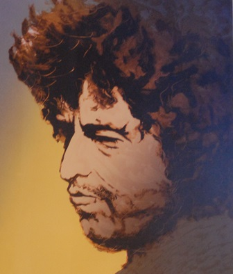 RONNIE WOOD Bob Dylan, Limited edition print, signed, inscribed and numbered 242/250, 51cm by 44cm