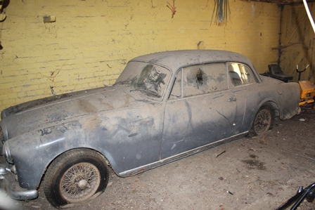 ALVIS MODEL TD21 THREE LITRE PARK WARD SALOON, seal grey, reg.no. 6844 HP, chassis and engine no.26296, first registered 29th September 1960. A BARN FIND TO BE SOLD AS FOUND ON A WARWICKSHIRE FARM. AN IDEAL SUBJECT FOR A FULL RESTORATION PROJECT.  VIEWING BY PRIOR APPOINTMENT AND COLLECTION BY THE BUYER FROM ITS EXISTING LOCATION AT THE FARM. The car is sold as seen with original log book, manual and other paperwork. It is believed to have been in the one family for most of its life (ie since 1964)
