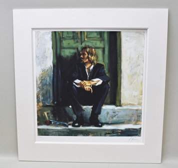 FABIAN PEREZ Waiting For Romance to Come Back - a limited edition colour print, no.203 of 495, signed, 51cm x 51cm, mounted, unframed,  with De Montfort certificate