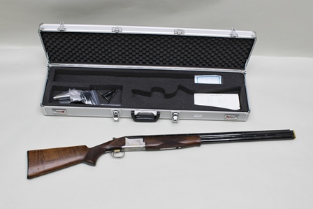 A BROWNING ULTRA XS OVER AND UNDER DOUBLE BARREL 12-BORE EXTENDED MULTI-CHOKE COMPETITION SPORTER SHOTGUN, gun complete with air freight and case, adjustable stock and trigger guard lock, no. 46064MY (with four chokes and key) (Shotgun Certificate required)