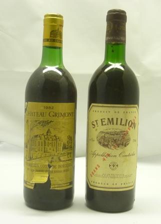 CHATEAU GRIMONT 1982 1er Cotes de Bordeaux, 1