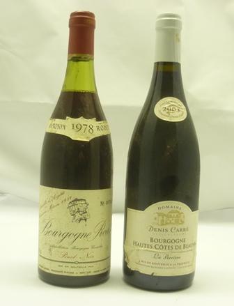 BOURGOGNE RODET 1978 Pinot Noir, 1 bottle BOU