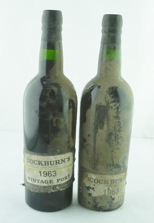 COCKBURNS 1963 vintage port, 2 bottles