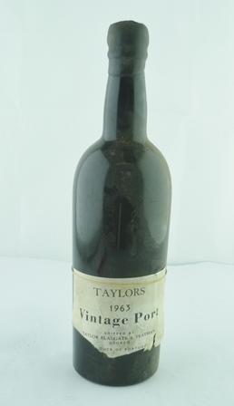 TAYLORS 1963 vintage port, 1 bottle