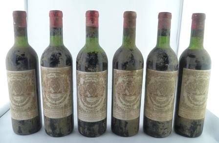 BARON DE PICHON LONGUEVILLE 1961 6 bottles