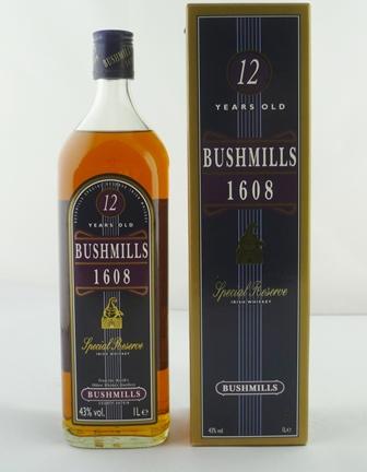 BUSHMILLS 1608 Irish Whiskey, aged 12 years,