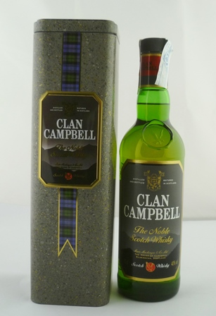 CLAN CAMPBELL The Noble Scotch Whisky 40% vol