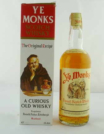 YE MONKS Scotch Whisky, a Curious Old Whisky,