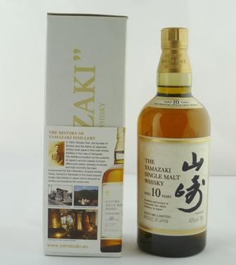 THE YAMAZAKI Single Malt Whisky, aged 10 year