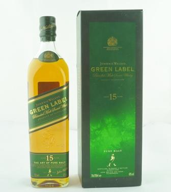 JOHNNIE WALKER Green Label Blended Malt Scotc
