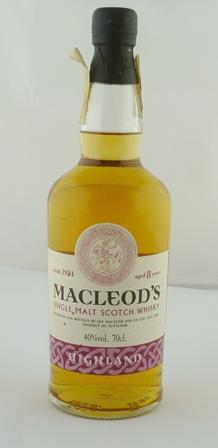 MACLEODS Single Malt Scotch Whisky, aged 8 ye