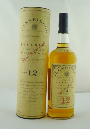 GLEN RIDELL Speyside Single Malt Scotch Whisk