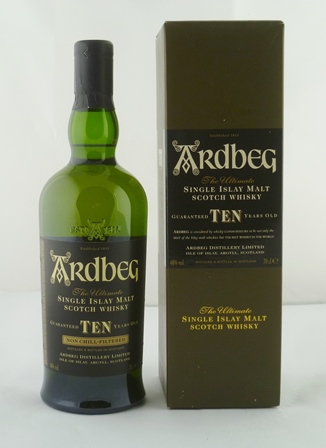 ARDBEG Single Islay Malt Scotch Whisky, aged