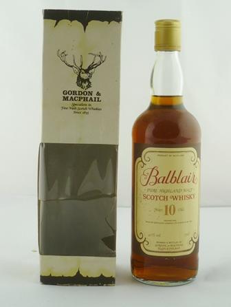BALBLAIR Gordon & Macphail, Pure Highland Mal