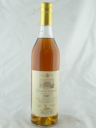 HINE Grand Champagne Cognac 1981 vintage, How