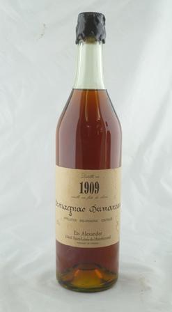 DURNOUVEAU EST ALEXANDER Bas Armagnac 1909, 1