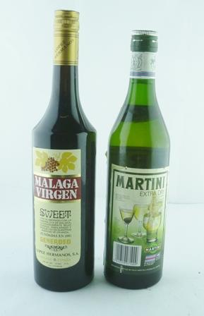 MARTINI Extra Dry Vermouth, 1 bottle MALAGA V