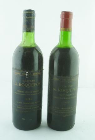 CHATEAU DE ROQUEFORT 1973 & 1978 Grand Vin de