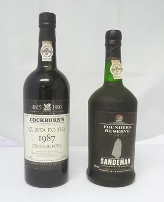 COCKBURNS QUINTA DO TUA 1987 vintage port, 1