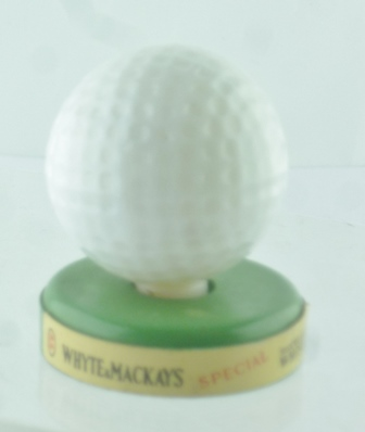 GOLF BALL filled with Whyte & MacKays Whisky,