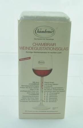 A WINE THERMOMETER, in box