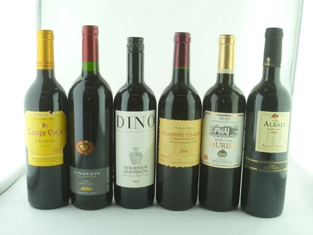 A MIXED LOT OF SIX BOTTLES comprising; Campo