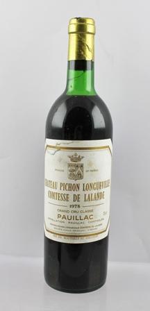 CHATEAU PICHON LONGUEVILLE 1978 Comtesse de L
