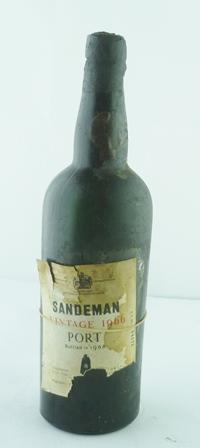 SANDEMAN 1966 vintage port, 1 bottle (seepage