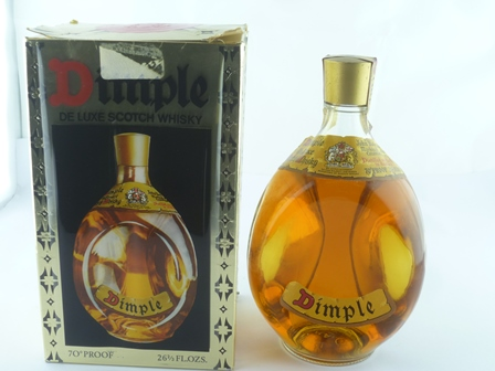 DIMPLE DELUXE SCOTCH WHISKY 70 degrees proof,