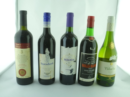A SELECTION OF FIVE BOTTLES comprising; Storm