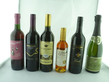 A SELECTION OF SIX MIXED WINES comprising;  G