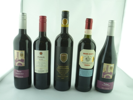 A SELECTION OF FIVE BOTTLES comprising; Piemo