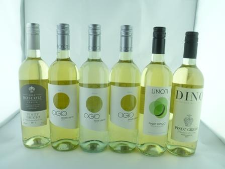 A SELECTION OF SIX ITALIAN PINOT GRIGIO WINES