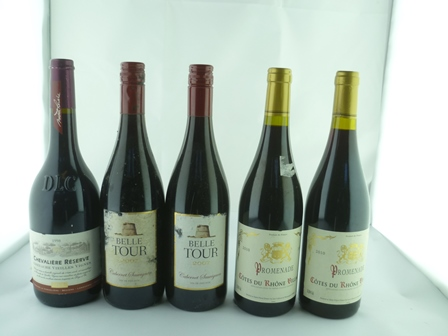 A SELECTION OF FIVE BOTTLES comprising; Prome
