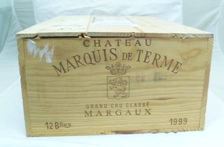 CHATEAU MARQUIS DE TERME 1999 Margaux, 12 bot