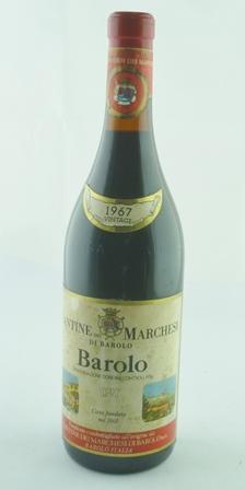 BAROLO CANTINE DI MARCHESI DI BAROLO 1967 1 b