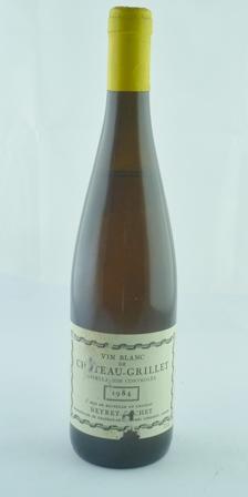 VIN BLANC DE CHATEAU GRILLET 1984 Neyret-Gach