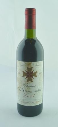 CHATEAU LE COMMANDEUR 1987 Pomerol, 1 bottle