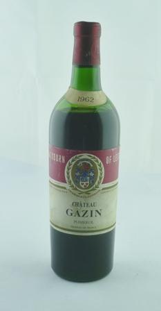 CHATEAU GAZIN 1962 Pomerol, 1 bottle