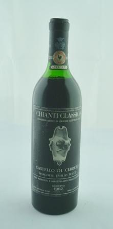 CHIANTI CLASSICO 1962 Riserva Castello de Cer