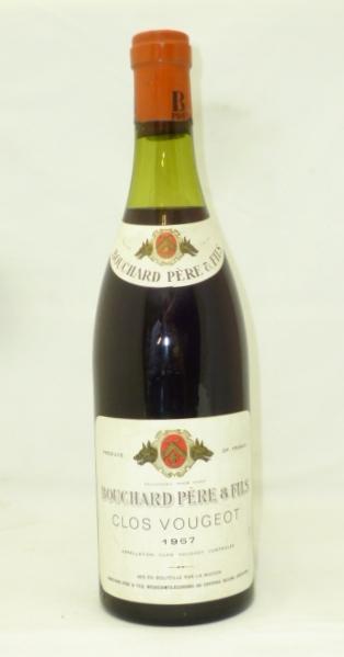 CLOS VOUGEOT 1967 Grand Cru Bouchard Pere et