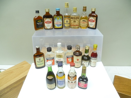 A COLLECTION OF 18 MINIATURE SPIRITS includin