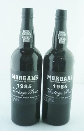 MORGANS 1985 vintage port, 2 bottles