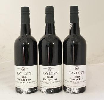 TAYLORS 1980 Vintage Port, 3 bottles